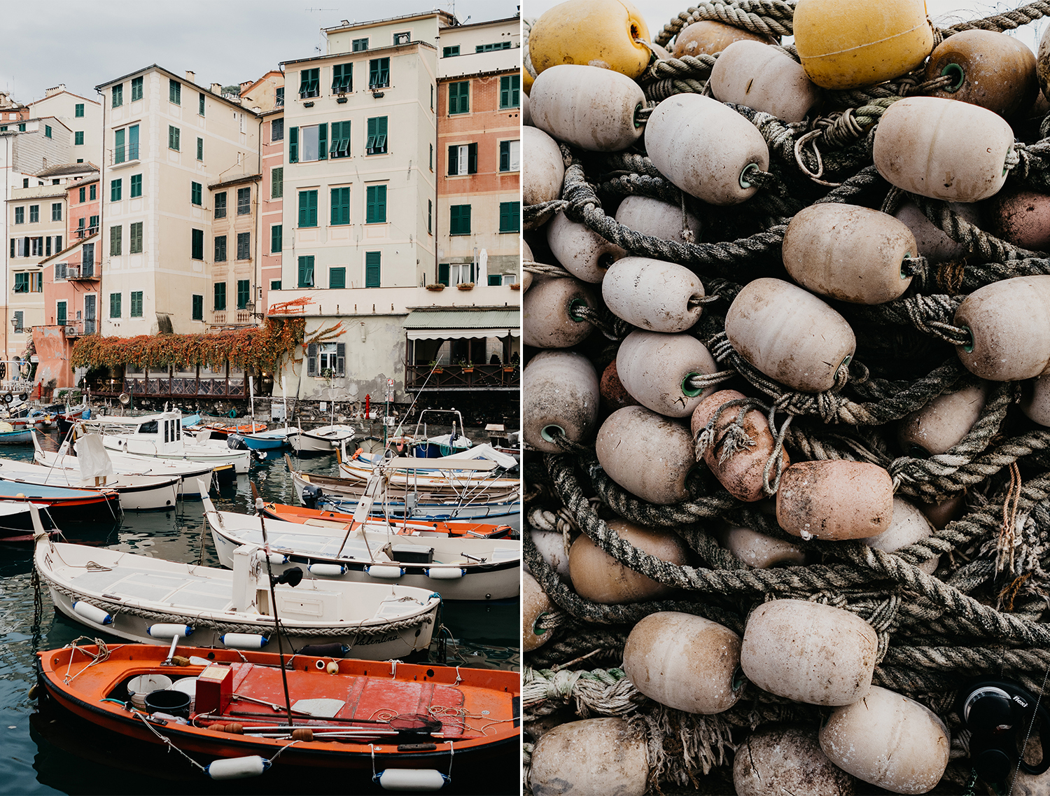 Rebecca Rinaldi maternity photographer in Italy. maternity photo shoot in Camogli, Liguria. detail og sheets hanging from typical ligurian houses and boats.