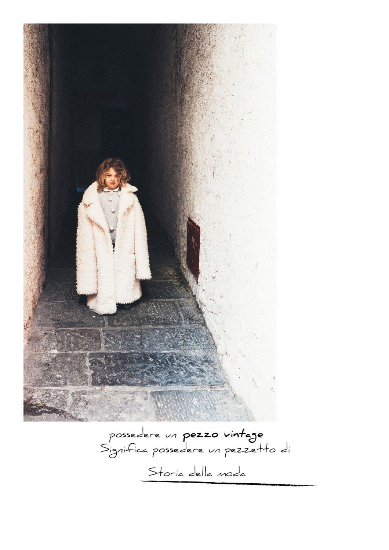 Rebecca Rinaldi Photography. Caterina indossa il cappotto vintage della mamma